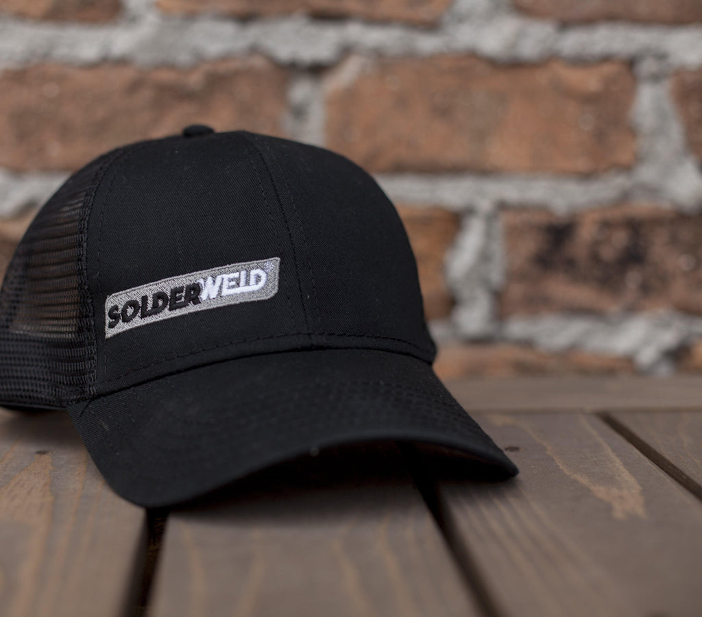 SolderWeld - Black Trucker hat with Grey embroidery