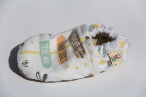 Ash's Flannel Campsite Soft Sole Baby Shoes