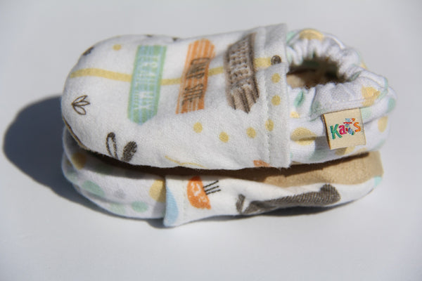 Flannel Campsite Soft Sole Baby Shoes