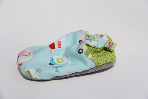 Ash's Little Campers Soft Sole Baby Shoes