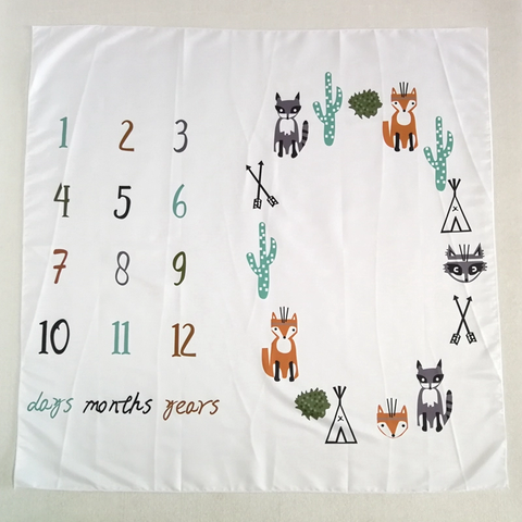 Milestone Photo Blanket-Creatures