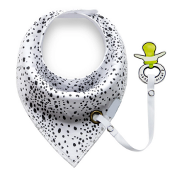 Baby Bandana Bib Set, 2 Pack- Triangles and Spots