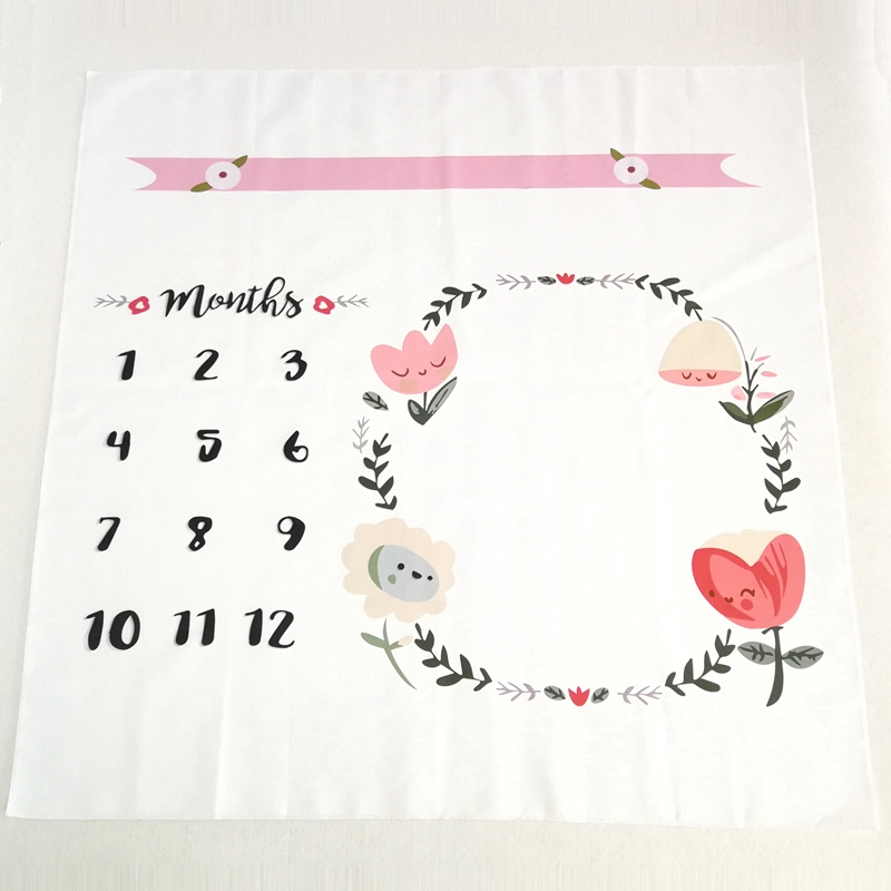 Milestone Photo Blanket-Flowers
