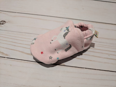 Bubba Blue's Unicorns Soft Sole Baby Shoes