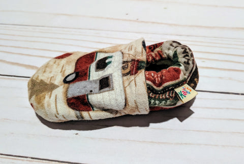 Ash's Happy Camper Flannel Soft Sole Baby Shoes