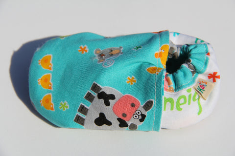 Doug's Farm Animals Soft Sole Baby Shoes