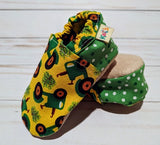 Doug's Tractor Soft Sole Baby Shoes