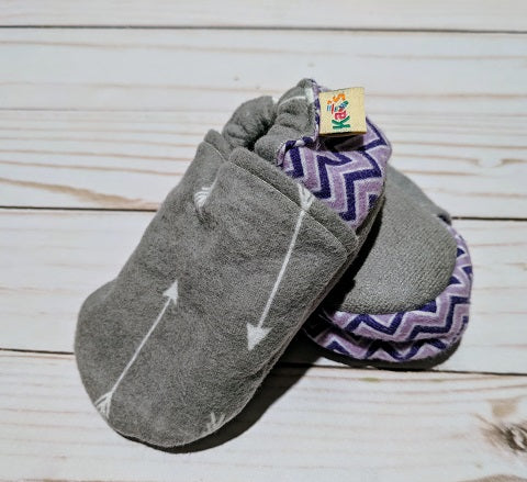 Flannel Arrows Soft Sole Baby Shoes