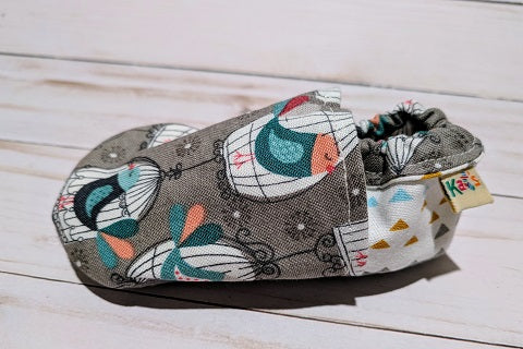Paris's Pretty Birds Soft Sole Baby Shoes