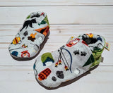 Ash's Camp Wild Flannel Soft Sole Baby Shoes