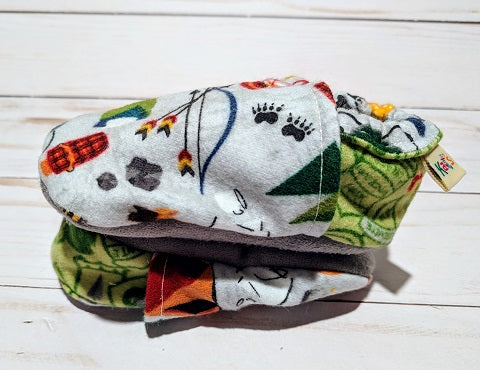 Camp Wild Flannel Soft Sole Baby Shoes