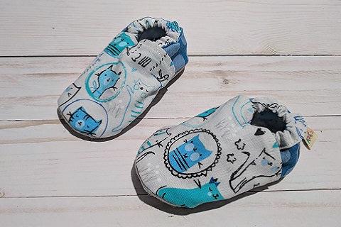 Playful Cats Soft Sole Baby Shoes