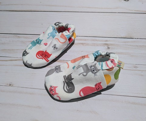 Cool Cats Soft Sole Baby Shoes