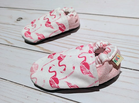 Pink Flamingo Soft Sole Baby Shoes