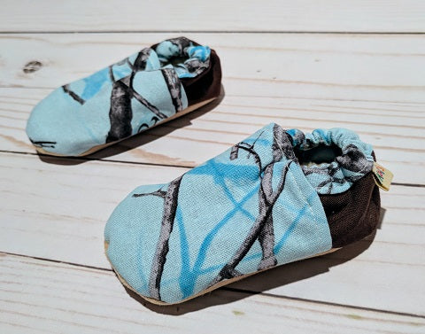 On the Hunt-Blue Soft Sole Baby Shoes