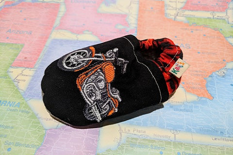 Trooper's Motorcycle Soft Sole Baby Shoes