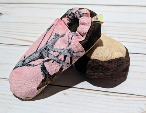 On the Hunt-Pink Soft Sole Baby Shoes
