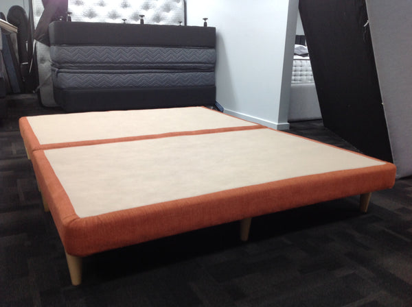 Queen Size Upholstered Base - Optima Terracotta