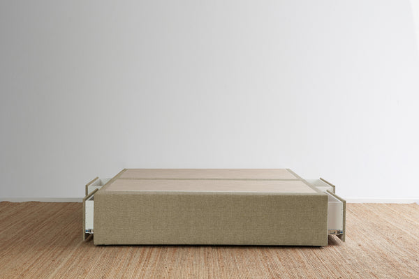 Maxwell's 4 Drawer Bed Base - Bark