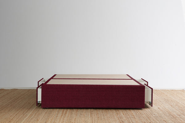 Maxwell's 4 Drawer Bed Base - Beetroot