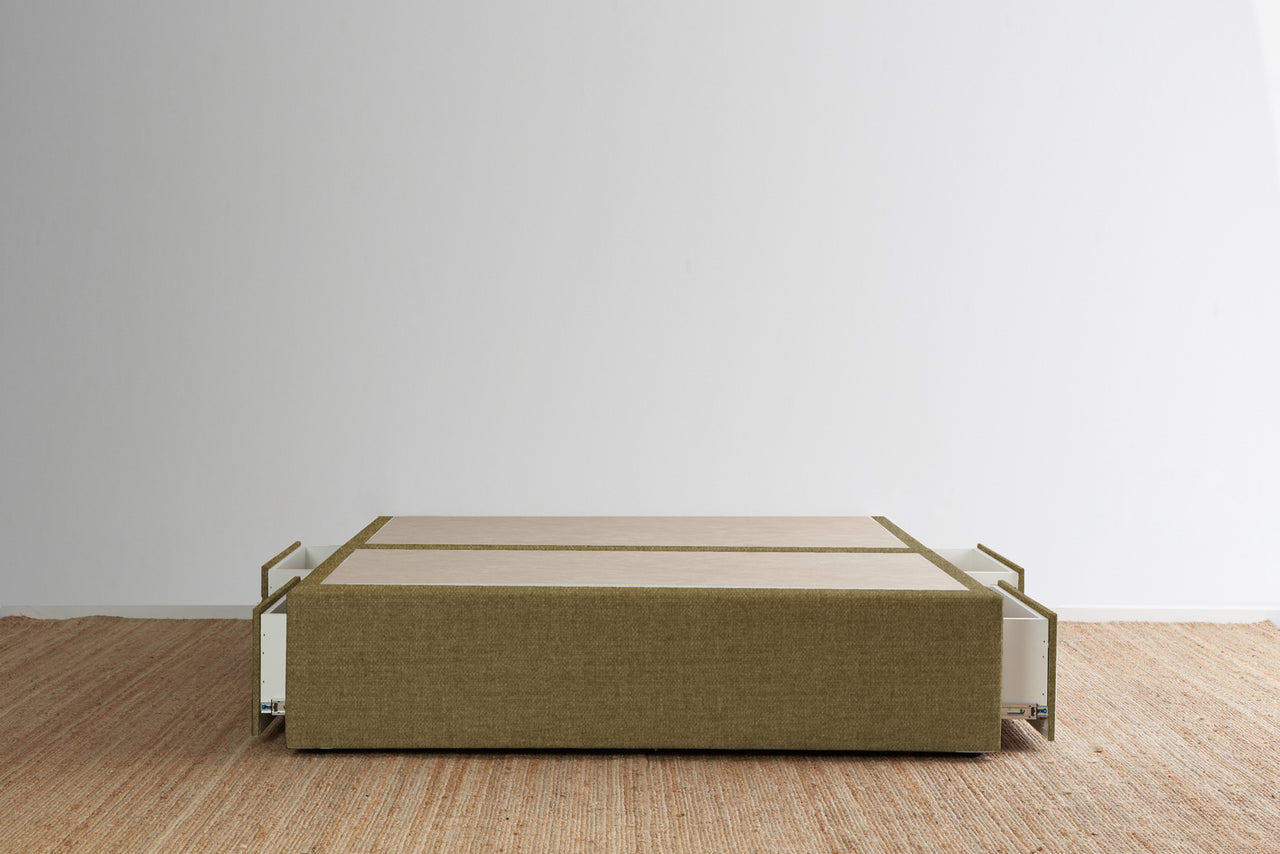 Maxwell's 4 Drawer Bed Base - Caramel