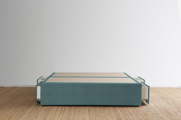 Maxwell's 4 Drawer Bed Base - Lagoon