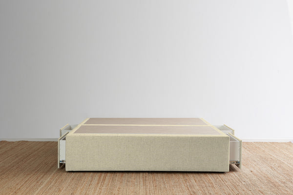 Maxwell's 4 Drawer Bed Base - Macadamia