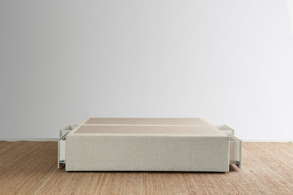 Maxwell's 4 Drawer Bed Base - Oatmeal