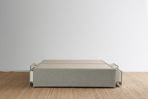Maxwell's 4 Drawer Bed Base - Pewter