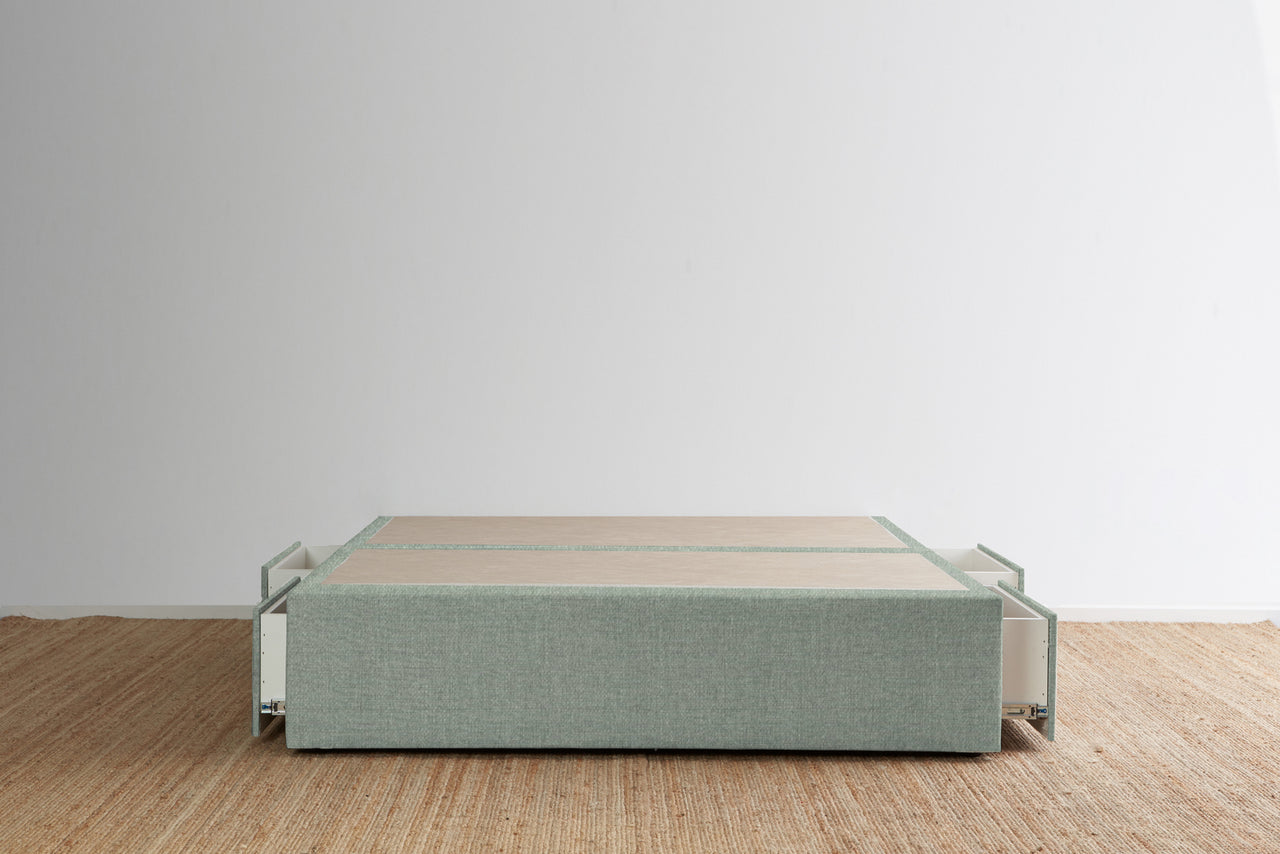Maxwell's 4 Drawer Bed Base - Seafoam