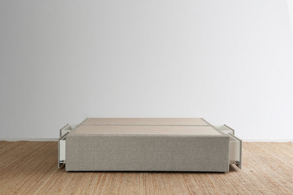Maxwell's 4 Drawer Bed Base - Stone