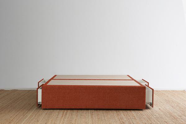 Maxwell's 4 Drawer Bed Base - Terracotta