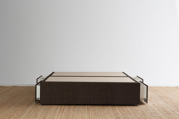 Maxwell's 4 Drawer Bed Base - Walnut