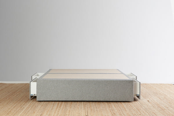 Maxwell's 4 Drawer Bed Base - Light Grey