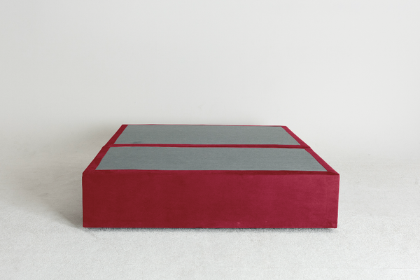 Velvet Maxwell's 4 Drawer Bed Base - Scarlet