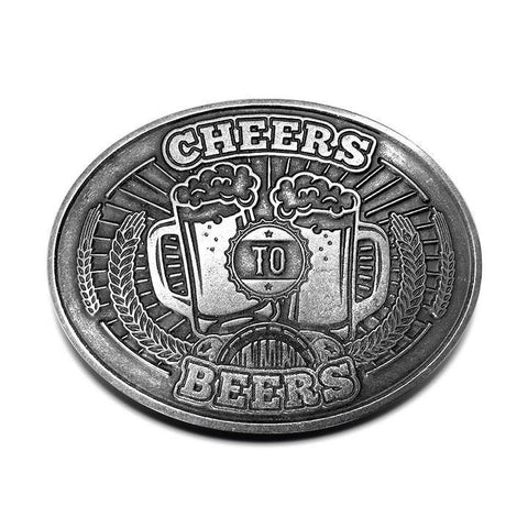 Cheers to Beers Beer Belt Buckle - Bottle Holder