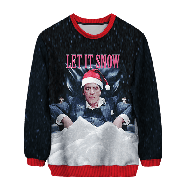 Let It Snow Scarface Christmas Sweater