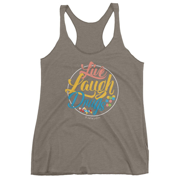 Live, Laugh, Drugs Dark Women's tank top