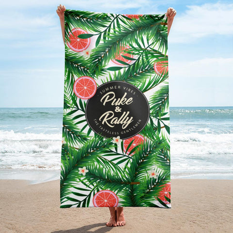 Puke & Rally Beach Towel