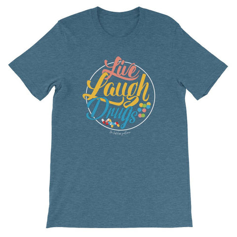 Live, Laugh, Drugs Dark Men's Tee