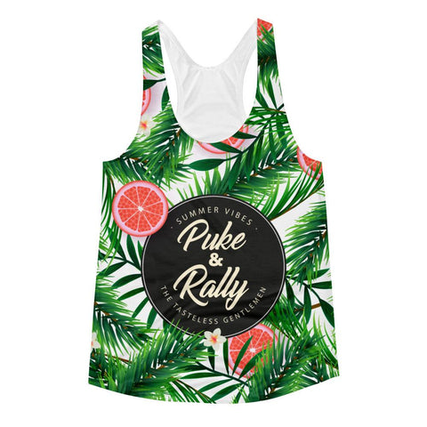 Puke & Rally All Over Summer Print Women's Racerback Tank