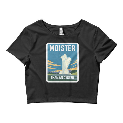 Moister Than An Oyster Women's Crop Tee