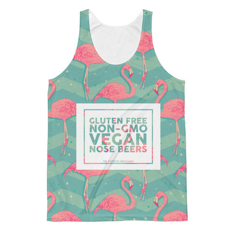 Gluten Free, Non-GMO, Vegan Nose Beers All Over Print Tank Top.