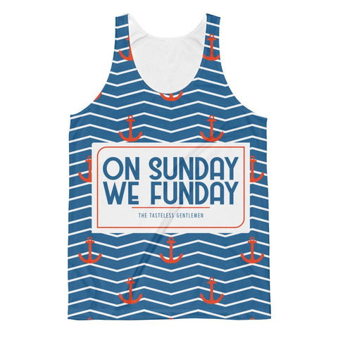 On Sunday We Funday All Over Tank Top