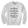 Help More Bees, Plant More Trees, Save The Seas - Hoodie