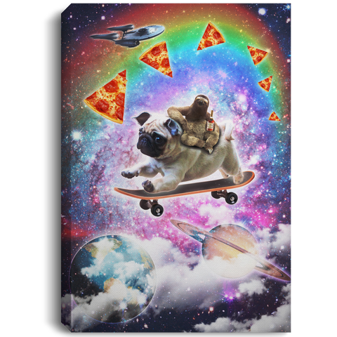 Sloth - Pug - Space - Canvas