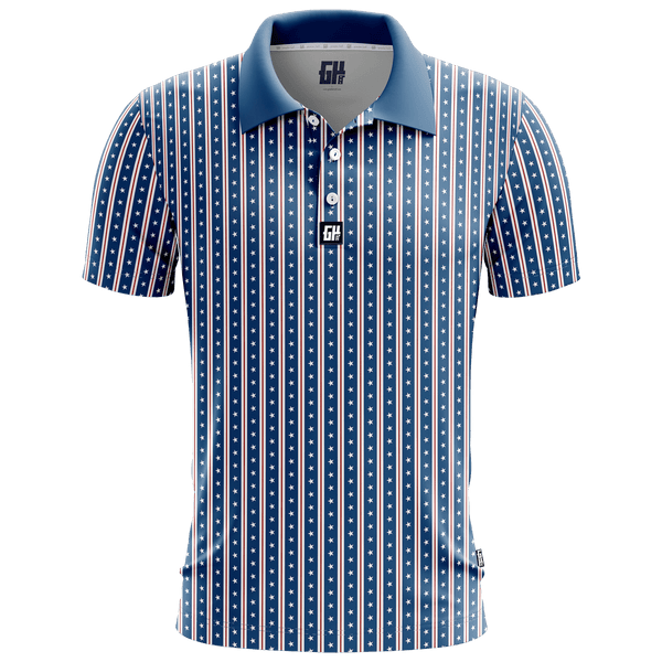America Stars and Straps - Golf Polo