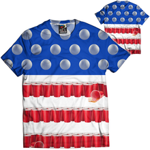 Red Solo Cups - Beer Pong - Flag Tee