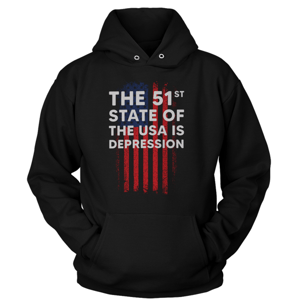 The 51st State Of The USA Is Depression - Sweatshirts
