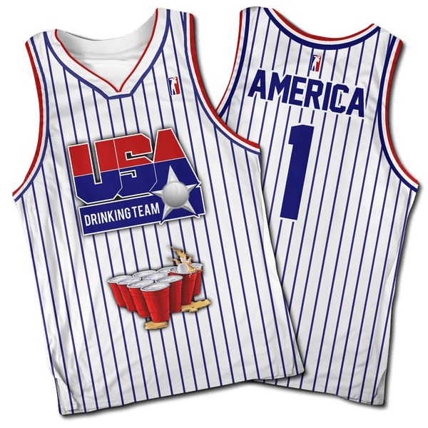 USA Drinking Team Basketball #1 Jersey